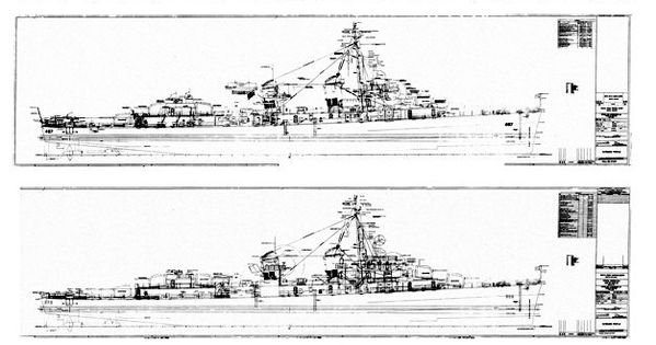 Bath Iron Works; engineering drawings for Fletcher-class