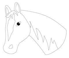 Pferdekopf Vorlage Zum Ausschneiden Ausmalbilder Pferde