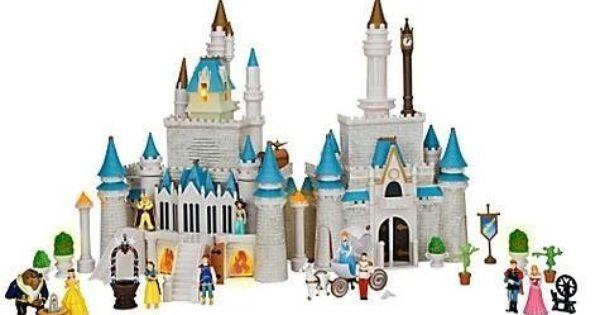 NEW Disney Cinderella Castle Monorail Play Set Magic