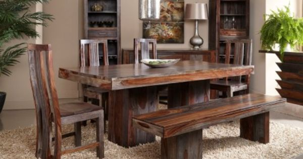 pub table with chairs and bench chair connected to desk gray wash sheesham wood dining | a taste of india pinterest grey wash, woods ...