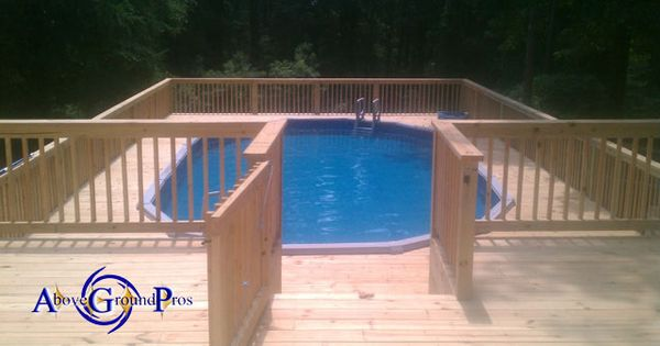 Oval Surround Deck Above Ground Pool Decks Pinterest
