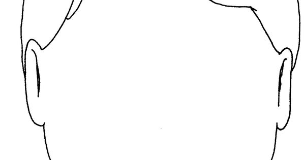 25 blank head coloring page free cliparts that you can