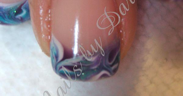 Nail Designs For Carribean Caribbean Teal Purple