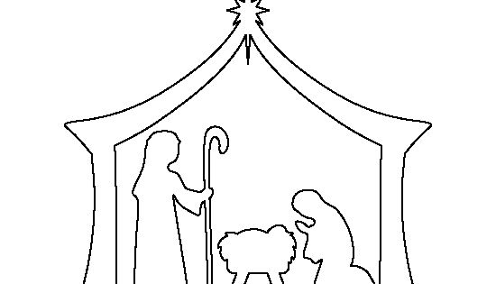Nativity pattern. Use the printable outline for crafts