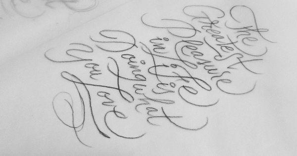 Handletering tutorial: how to practice brushpen lettering