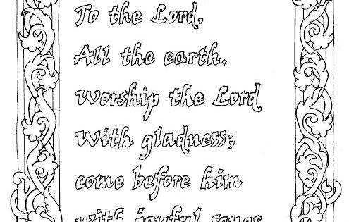 Coloring Pages for Kids by Mr. Adron: Coloring Page Psalm