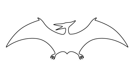 Pterodactyl pattern. Use the printable outline for crafts