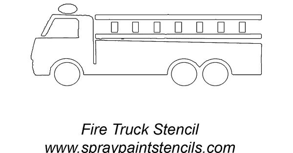 Fire truck stencil... you could print this and have the