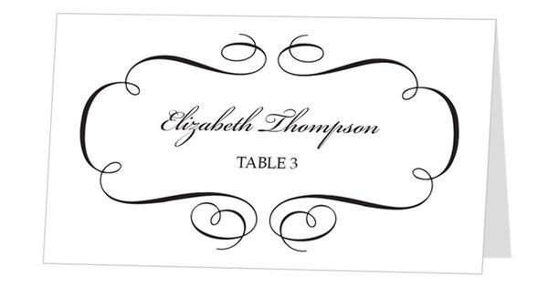 Place card template, Card templates and Place cards on