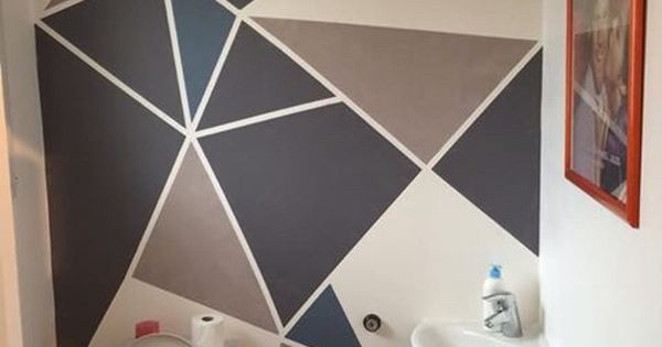 Peinture Murale Triangles Gomtrique Art Room Pinterest Triangles Search And Walls