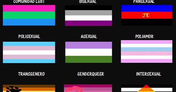 BANDERAS IDENTIDAD SEXUAL  simbolos  Pinterest  Searching