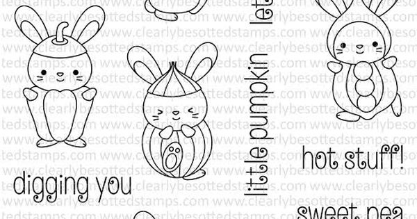 Clearly Besotted VEGETABLE PATCH Clear Stamp Set