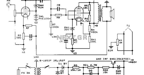 Construction 25W single-ended Class A tube amp circuit