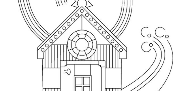 Beach Hut Coloring Pages Coloring Pages