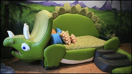 WOW what an awesome bed ideal fun furniture for the dinosaur theme bedroom  disney themed