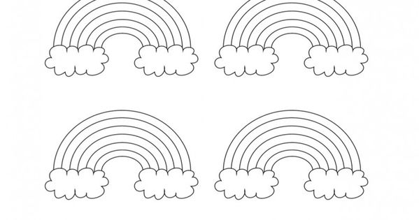 Grab these free printable rainbow pattern coloring sheets