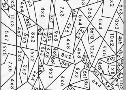 Coloriage magique : Les tables de multiplication