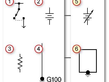 automotive wiring basic symbols 1 switch 2 battery 3 resistor