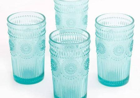 The Pioneer Woman Adeline 16Ounce Emboss Glass Tumblers