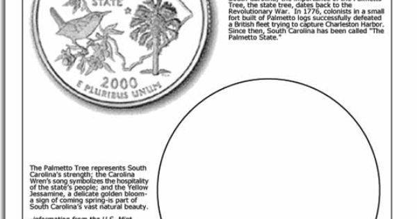 South Carolina State Quarter Worksheet © ClassBrain, Inc
