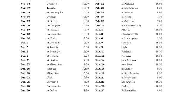 Printable Golden State Warriors Basketball Schedule 2015