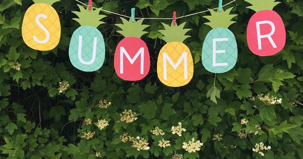 Pineapple Summer Banner  FREE Printable  Ultimate Free Printables Collection  Pinterest
