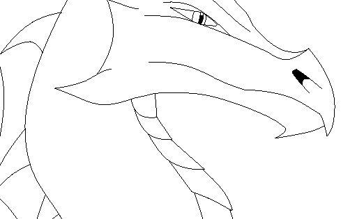 Istarian Dragon Split-Lip Head Template by FireDragon97