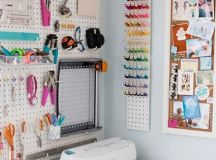 Check out Jen from Something Turquoise's new Craft Room ...