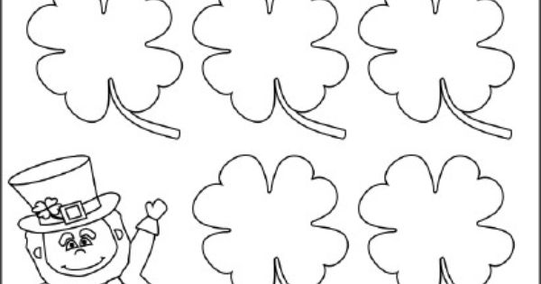 This is a blank clover worksheet template on