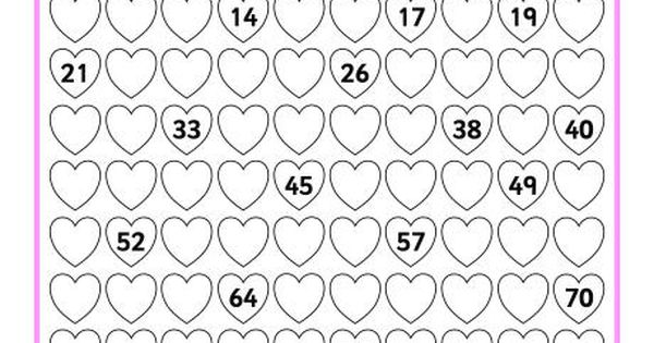 Hearts 100 square... cute idea, just on a smaller scale