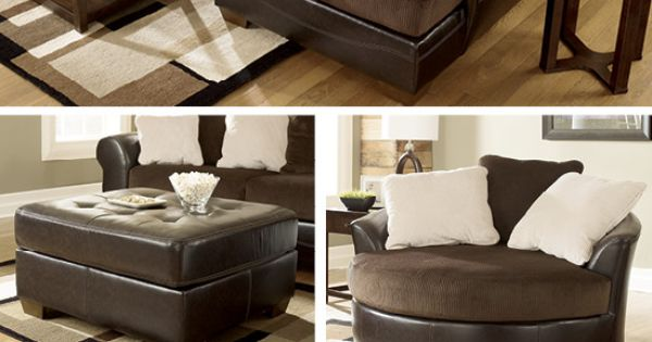 Sectionals Living Room Furniture Brown And Cream White
