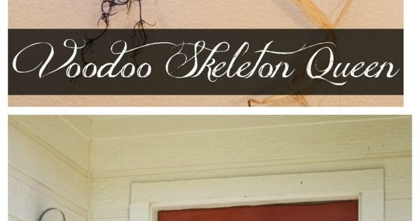 DIY Voodoo Skeleton Queen Door Decor