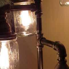 Hanging Light Fixtures Living Room Rooms To Go Set With Tv Pipe Floor Lamp 4-fixture Steampunk Mason Jar ...