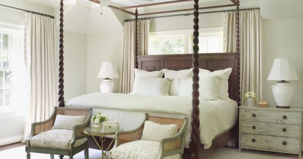A Custom Four-poster Bed Takes Center Stage In The Airy