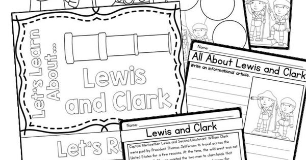 Lewis and Clark biography set- reading passages, writing