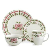 Pfaltzgraff Christmas Plaid Dinnerware Set, 32 Piece ...