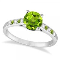 79 best images about Peridot Engagement Rings on Pinterest