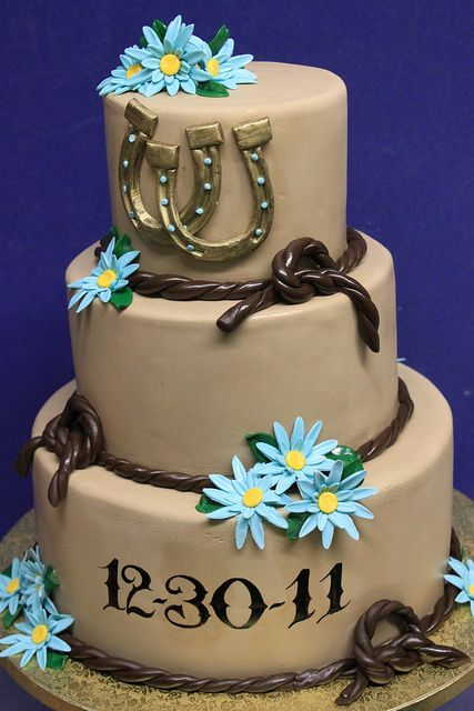 Wedding cake  Blue country western wedding  Wedding ideas for brides grooms parents