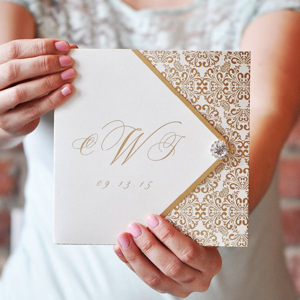 42 best images about Bling Wedding Invitations on Pinterest  Personalised wedding invitations
