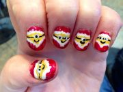 christmas minions nail art