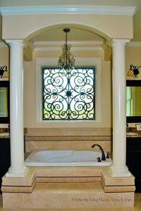 17 Best images about Tableaux Faux Iron Window Treatments