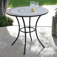 30-inch Round Bistro Style Wrought Iron Outdoor Patio ...