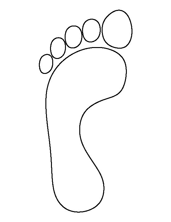 Footprint pattern. Use the printable outline for crafts