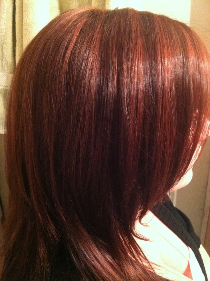 Red Lowlights W Brown Hair Ive DoneColors Ive Had