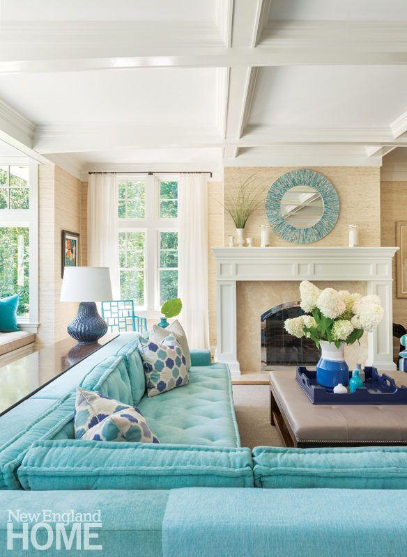 17 Best ideas about Aqua Living Rooms on Pinterest