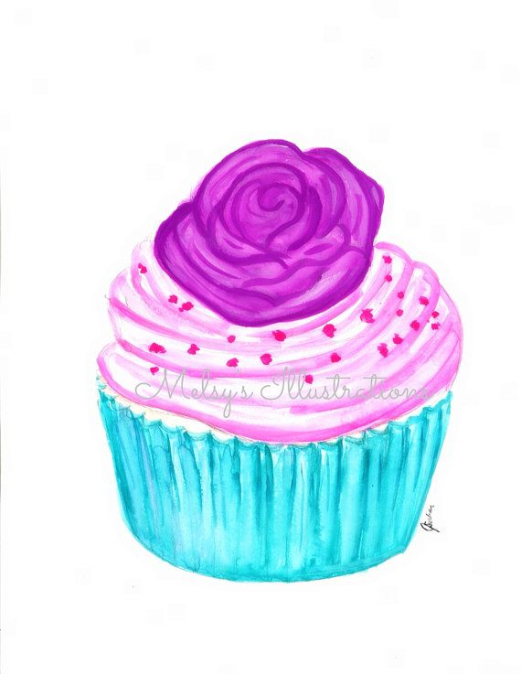 CUPCAKE Illustration By Melsys Illustrations Fashion