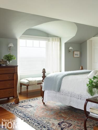 The Soothing Palette Of This Master Bedroom Mirrors Seascape Colors Outside Architecture By George