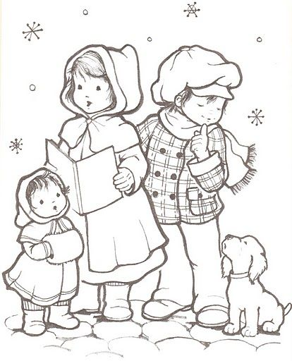 73 best images about Christmas/Winter coloring pages on