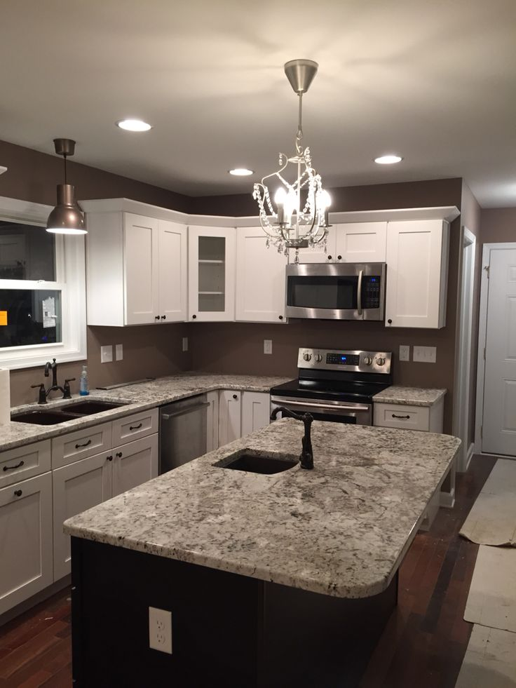 ikea shaker kitchen cabinets counter decor white/mocha bianco antico granite natural ...