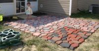 12x12 patio made using Quikrete WalkMaker (Country Stone ...